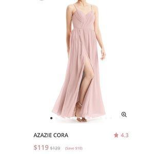 Azazie Dusty Rose Cora Bridesmaid Dress Size 4